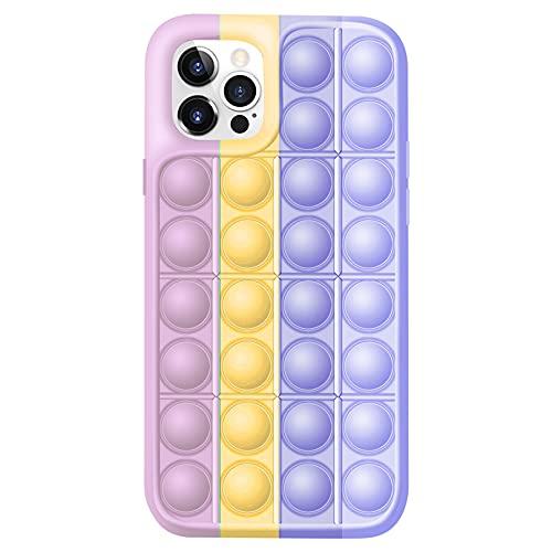 Fidget Toys Phone Case,Push Pop Bubble Sensory Fidget Toy Stress Relief Protecive Case Compatible for iPhone7,8,7P,8P,X,XS,XS Max,XR,11,11pro,12,12Pro,12Pro Max