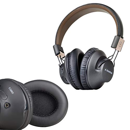 Avantree Audition Pro & Earpads, 40 hr Bluetooth Over Ear Headset with Microphone for Home Office, Conference Call, APTX Low Latency Wireless Headphones for TV Watching & Replacement Earpads (1 Pair)