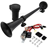 Single Trumpet Truck Air Horn with Compressor,18 Inches 12V 150db Air Horn Kit, for Any 12V Vehicles Trucks Lorrys...