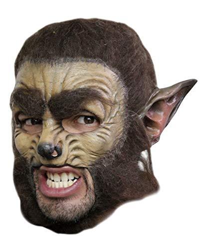 Horror-Shop Werwolf Maske mit Kunstfell - Vollkopf - Latex
