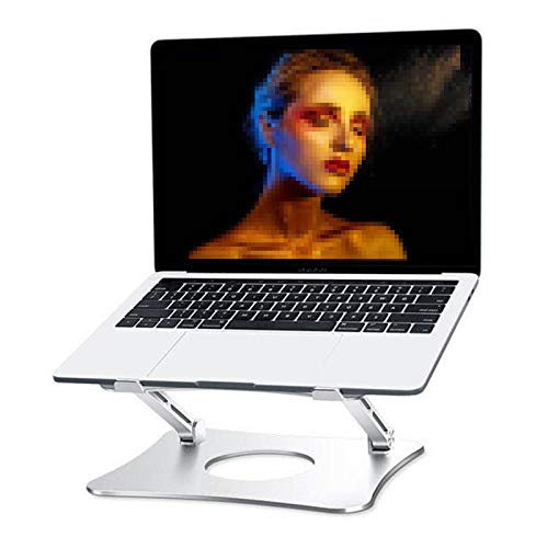 HERVI Es klappt Höhenverstellbarer Laptopständer, Multiangle Aluminium mit Wärmeentlüftung, für Office Desktop für Kinder und Erwachsene