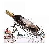 Rack Car vin Exquis Bionic Choix Fer Artisanat Feuille Accessoires Bouteille Porte-métal Cabinet Gratuit Coordonner La Statue (Color : Leaf Car Bronze)