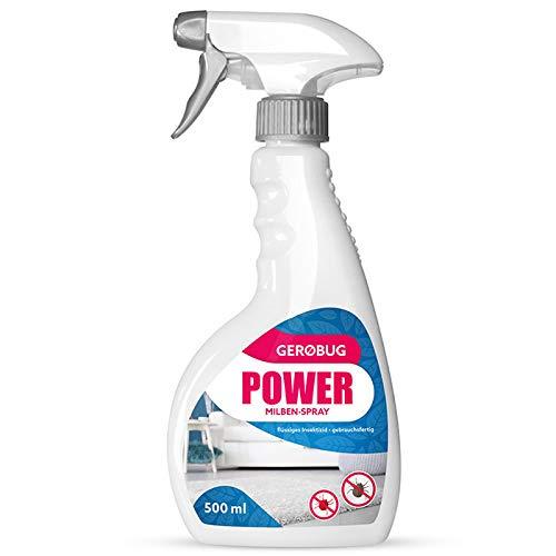Gerobug Power Milbenspray 500 ml - Milbenspray für Matratzen, Polster und andere Textilien