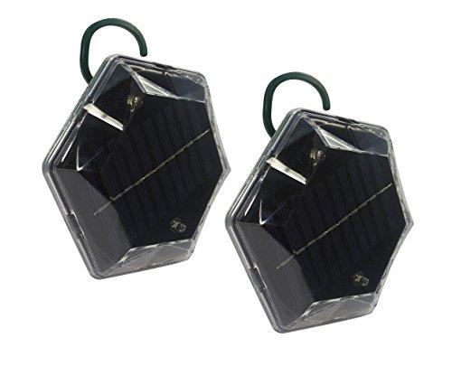 ISOTRONIC® Ultrasonic Bird Repeller device, solar powered portable Bird Deterrent, Pigeon Scarer Set of 2