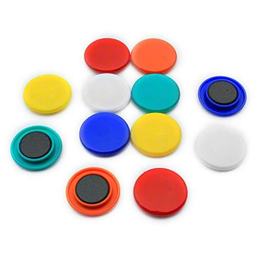 first4magnets F4M40-1 - Juego de imanes para pizarras magnéticas (12 unidades), colores surtidos