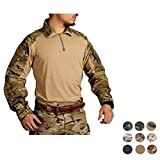 Elite Tribe Emerson Blue Label G3 Combat Shirt Camo Mens Tactical Tops Hunting BDU Shirt (Multicam Arid, S)