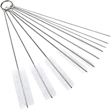 Scrubber Brush,10pcs Tube Brushes Straw Set for Drinking Straws Glasses Keyboards Jewelry Cleaning Brushes Clean Tools,Whi...