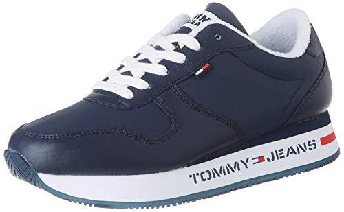 Tommy Hilfiger Flatform Runner Sneaker, Zapatillas Mujer, Azul (Twilight Navy C87), 39 EU