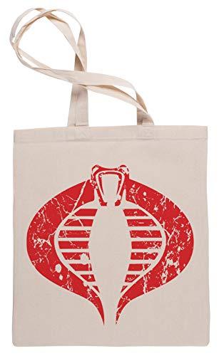 Wigoro Vendimia Cobra - Vendimia Bolsa De Compras Tote Beige Shopping Bag