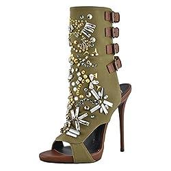 Multi-color High Heel Open Toe Sandals Shoes US
