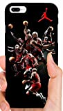 Jordan Mix Up Multiple Poses Bulls Basketball Phone Case Cover - Select Model (Galaxy S7 Edge)