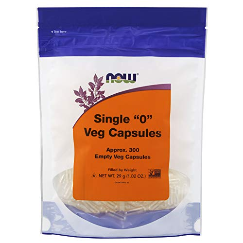 NOW Supplements, Empty Vegetarian Capsules, Single '0', Filled by...