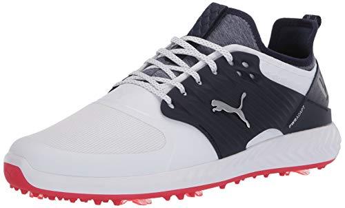 PUMA Herren Golfschuh Ignite Pwradapt Caged, Weiá (Puma White-puma Silver Peacoat), 45.5 EU