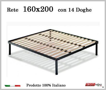 Ergorelax Rete per materasso a 14 doghe in faggio VIENNA. 100% Made in Italy - 160 cm x 200 cm