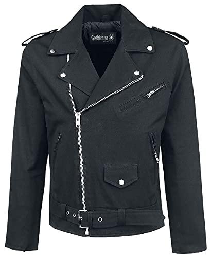 Gothicana by EMP Handsome Devils Club Homme Veste mi-Saison Noir L, 100% Coton, Regular/Coupe Standard