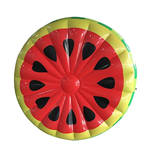 Carry Water Hammock,water Hammock For Adults,Semi-circular Watermelon Water Inflatable Swimming Floating Row Mount Floating Bed Adult Children's Toy/Red, Green Safety (Color : Round watermelon)
