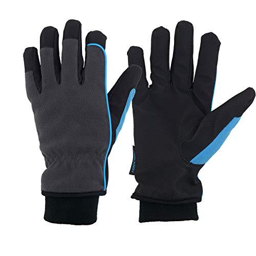 HANDLANDY Thermo-Handschuhe für kalte Wetter, wasserdicht, 3M Thinsulate Wintersport Arbeitshandschuhe - Grau - Mittel