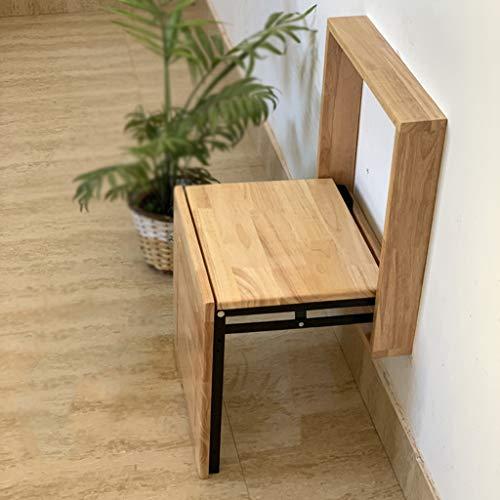 Hocker Aus Massivem Holz Zur Wandmontage Haushaltsgeräte Wandklappstuhl - Schlanker Mini-Wandhocker - Für Foyer, Veranda, Garderobe, Balkon, Bad - Einfache Installation