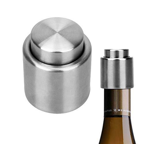 Tapones de vino Líquido tapón de flujo de ahorro de plata elegante de acero inoxidable tapón de vino preservador sellado sellador vacío tapón