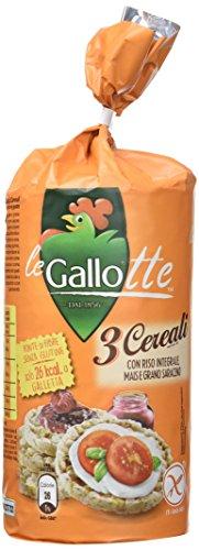 Riso Gallo Galettes aux 3 Céréales sans Gluten 100 g - Lot de 6