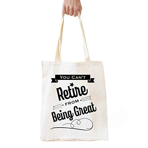Funny Retirement Gifts for Women Men | Retirement Natural Cotton Reusable Tote Bag Shopping Bag Shoulder Bag Gifts for Coworker Boss Best Friends Thanksgiving/Christmas/Birthday