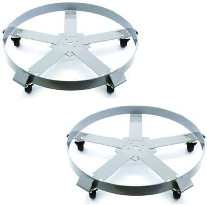 wholesale 2 wholesale discount Drum Dolly 55 Gal 5 Wheel Swivel Casters Heavy Steel Frame Easy Roll 1250 lbs outlet online sale