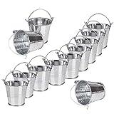 Mini cubos de metal 12 Piezas Pequeños cubos de metal Para Plantas De...