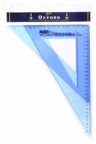 Helix Oxford - Kit de escuadra y cartabón (31 cm, 45º y 60º)