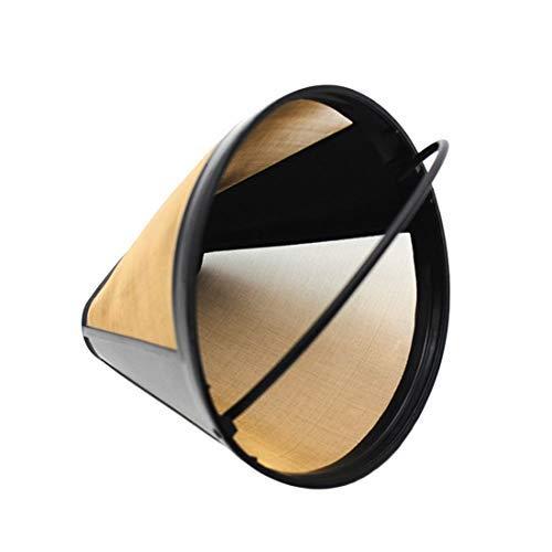 Acier Inoxydable Cône en forme de permanent filtre à café Poignées Lavable CAFE Outils