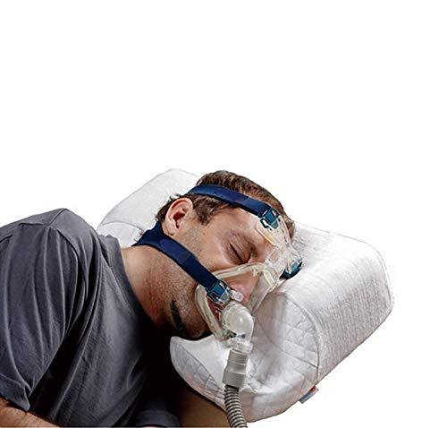 UALLL Apnea del Sueño Almohada – CPAP, Memoria de Forma Apnea del sueño Almohada con Funda de Almohada - Ortopedia/Anti-ronquido