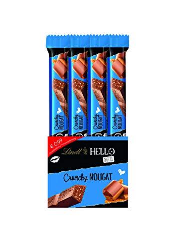 Lindt HELLO Sticks Crunchy Nougat, Vollmilch-Schokolade mit Nougat-Krokant-Füllung, 24er Pack (24 x 39 g)