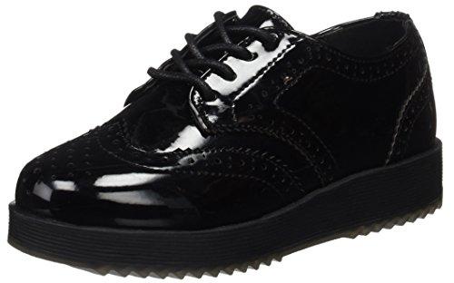 Conguitos Blucher Charol HI552201, Zapatos de Cordones Oxford para Niñas, Negro (Black), 29 EU