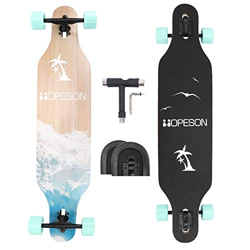 42 Inch Longboard Skateboard Complete Maple Deck Cruiser for Beginners Professionals All Terrain...