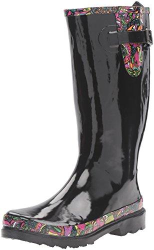 The SAK Women's Rhythm Rain Shoe, Black Rainbow Spirit Desert, 9 M US