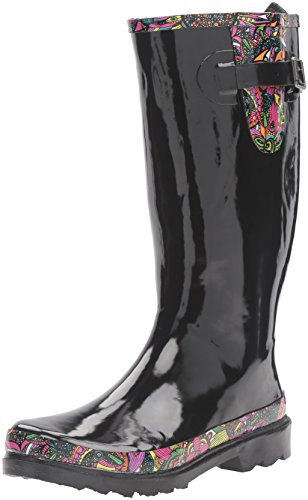 The Sak Women's Rhythm Rain Shoe, Black Rainbow Spirit Desert, 9 M US