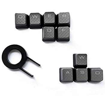 HUYUN Cherry MX Key Switch FPS Backlit Key Caps Replacement for Corsair Gaming Keyboards !(Gray)