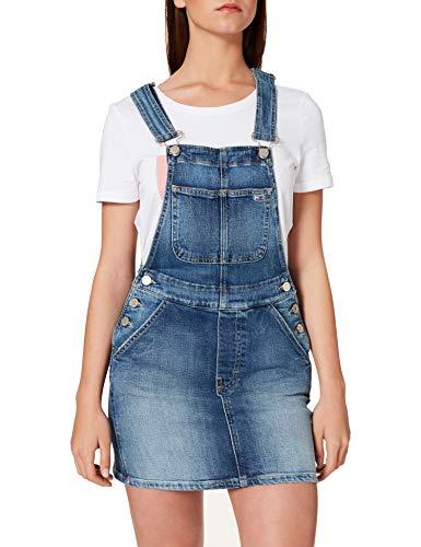 Tommy Jeans Damen CLASSIC DUNGAREE DRESS AMBC Kleid, Ames Mb Com, Medium