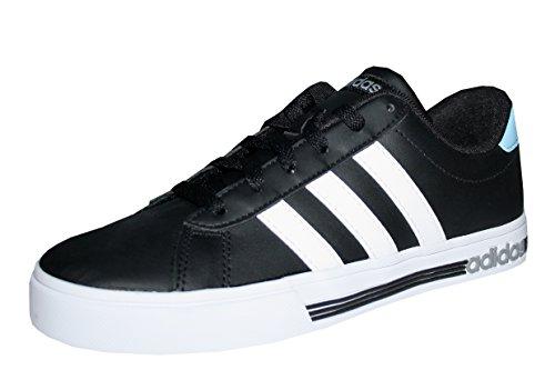 adidas Neo Daily Team Sneaker Freizeitschuhe (EU 40, Schwarz/Weiß)