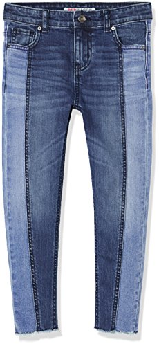 Amazon-Marke: RED WAGON Jeans Mädchen mit Fransen-Details, Blau (Blue), 110, Label:5 Years