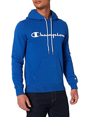 Champion Legacy Classic Logo Sudadera con Capucha, Azul, XS para Hombre
