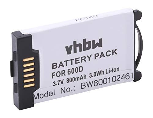 vhbw Akku 800mAh (3.7V) für schnurlos Festnetz Telefon Aastra 600d, 610d, 620d, 630d, DTS11 wie DK512009, 23-001059-00.