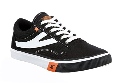 4. Sparx Men's Black and White Sneakers