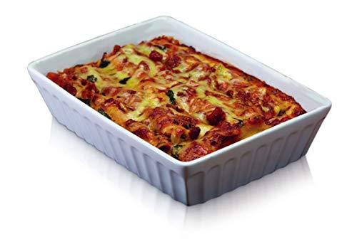 KitchenCraft World of Flavours Lasagne Form, Stein, Weiß, 33x23cm