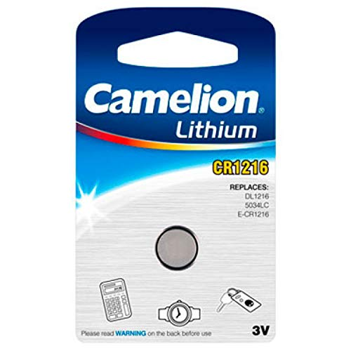Pile bouton lithium CR1216 - 3V