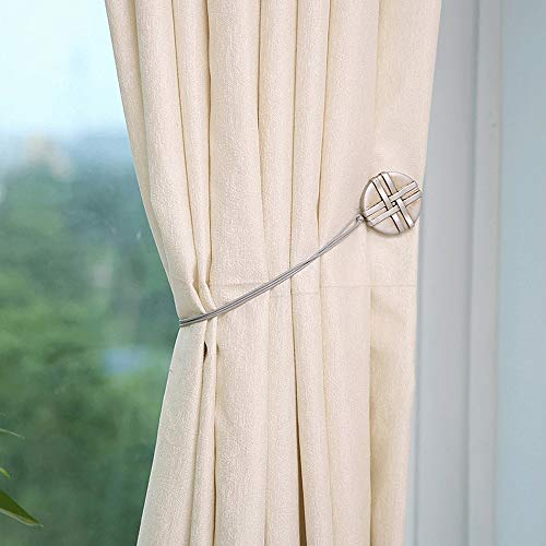 ZnMig Home Décor - 1 Pair Personality Round Style Resin Curtain Tiebacks Creative Free Installation Punch-Free Curtain Clips - Pretty and Sturdy (Color : 5, Size : 50cm)