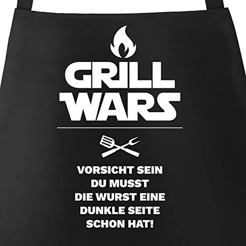MoonWorks Grill Wars Schürze für Männer mit Spruch schwarz Unisize