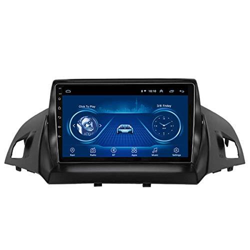 JALAL Sistema Multimedia para Coche con Pantalla táctil Completa Android 10 de 9 Pulgadas, para navegación GPS Ford Escape Kuga 2013-2017