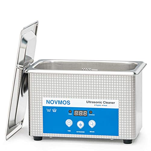 Ultrasonic Cleaner - NOVMOS 900ml Ultrasonic Jewelry Cleaner,Ultrasound Cavitation Machine Sonic Cleaner, with Digital Timer for Cleaning Denture,Jewelry, Parts,Dental Tool,Lab,Eyeglasses,etc.