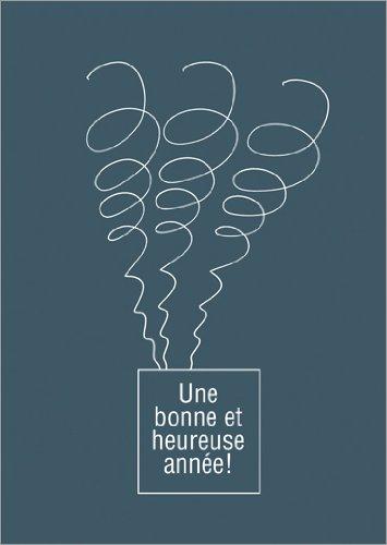 Im 5er Set: Lustige französische Silvesterkarte: Une bonne et heureuse année!