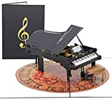 PopLife Grand Piano Pop Up Card for All Occasions - Happy Birthday, Graduation, Father's and...